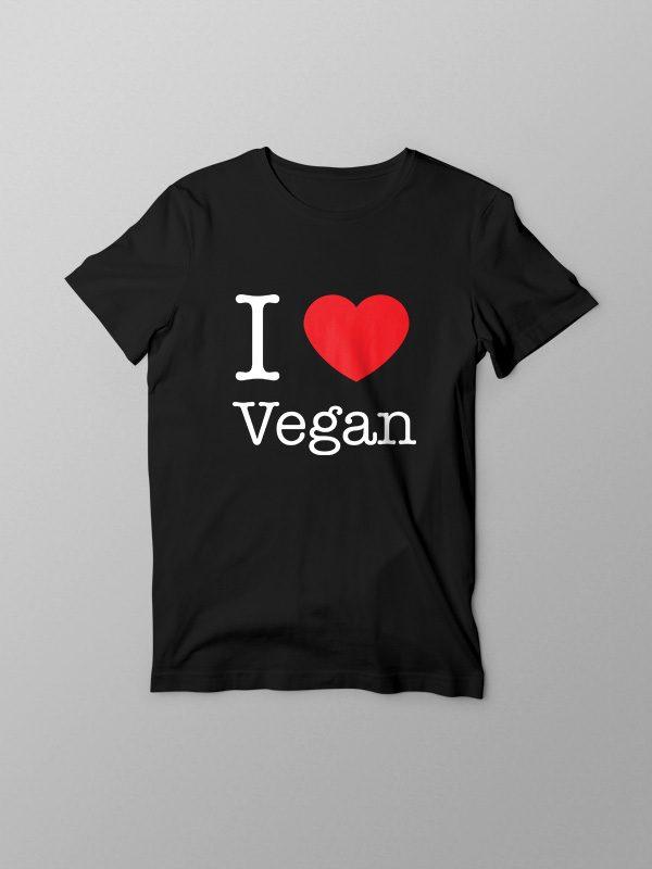 I Love Vegan – Vegan Tshirt