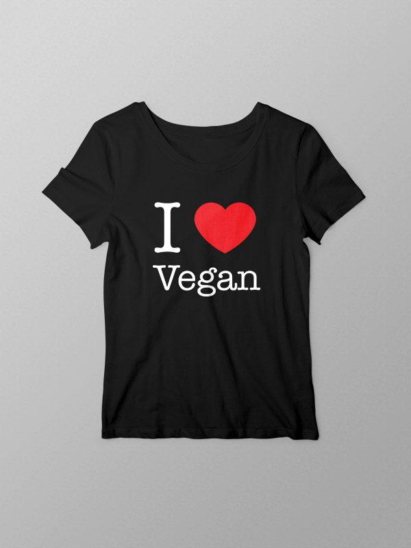 I Love Vegan – Women Tshirt