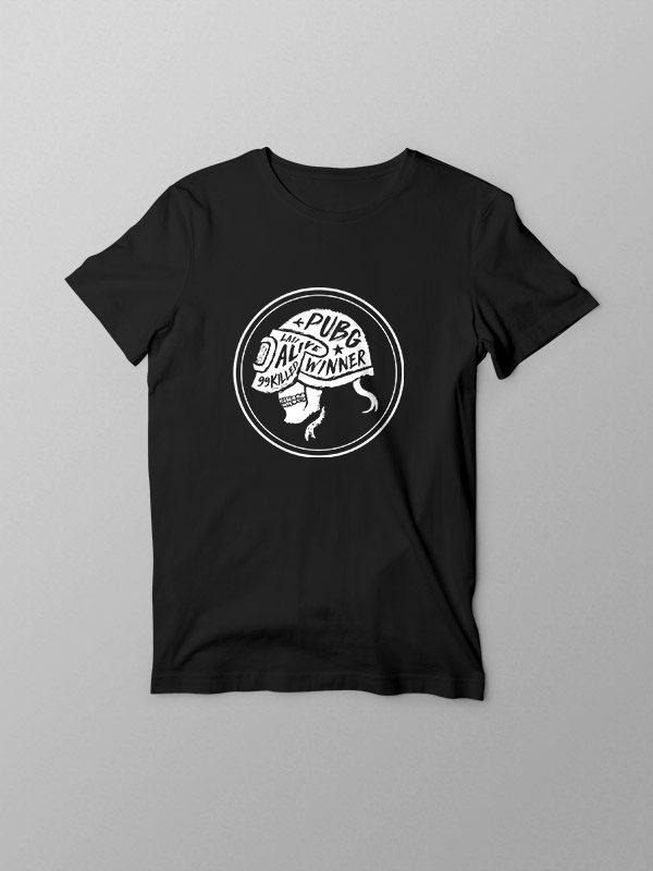 PubG Skull- Black Tshirt