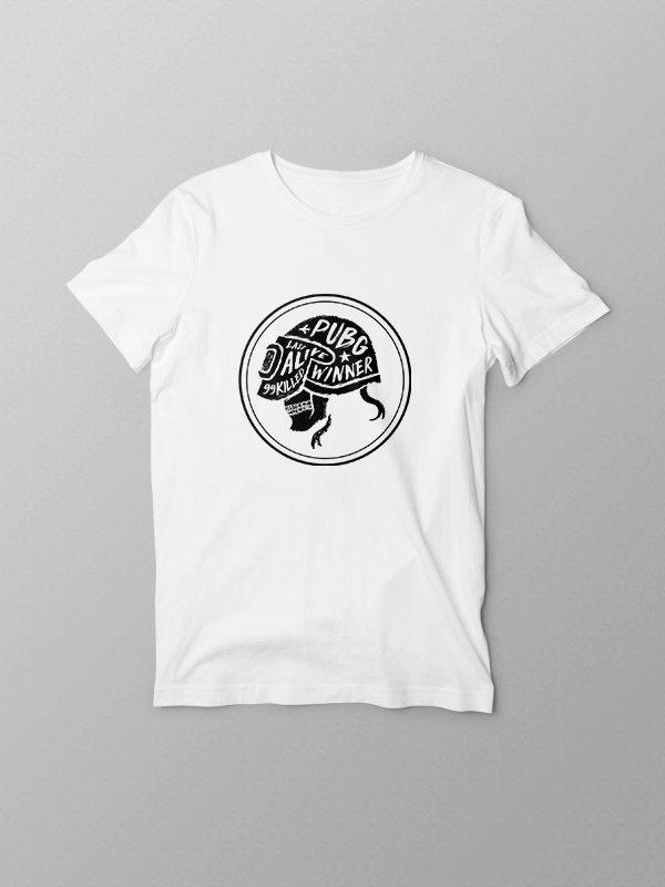PubG Skull- White Tshirt