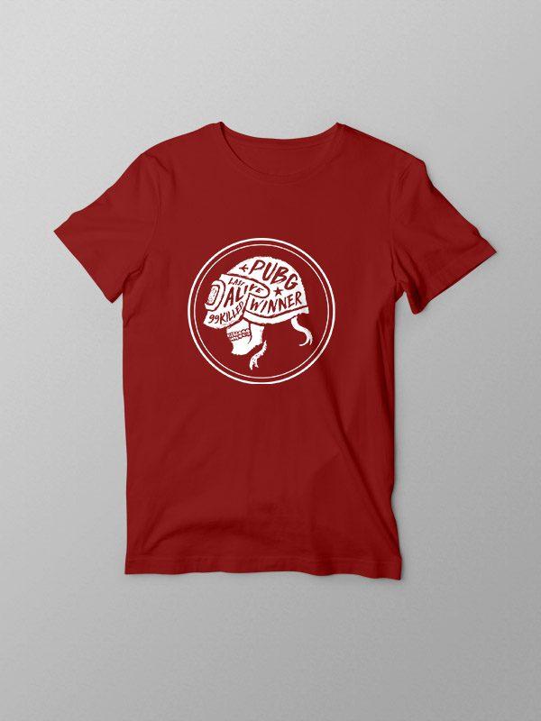 PubG Skull- Red Tshirt