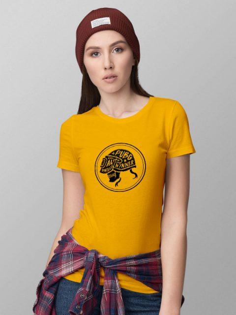 Pubg Skull Yellow- Women's Tshirt