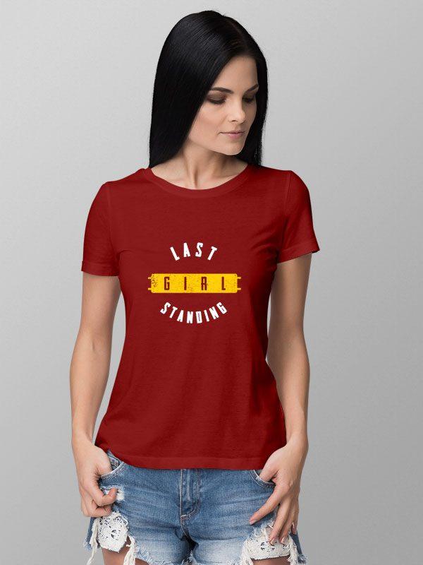 Pubg last survival Red- Women's Tshirt