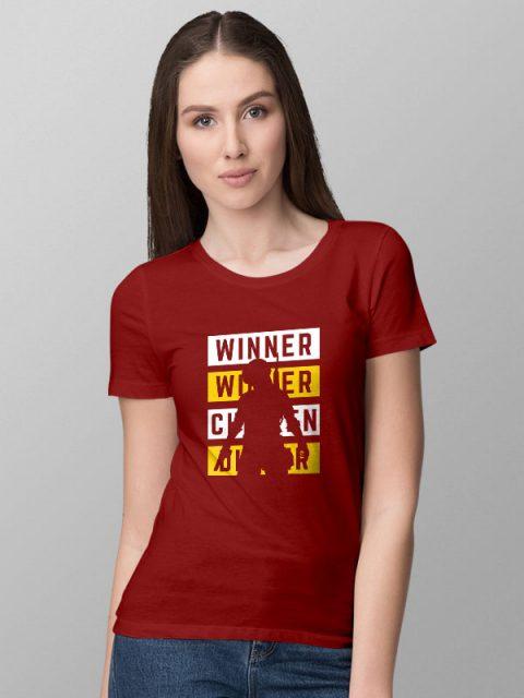 PubG Quote Red- Women's Tshirt