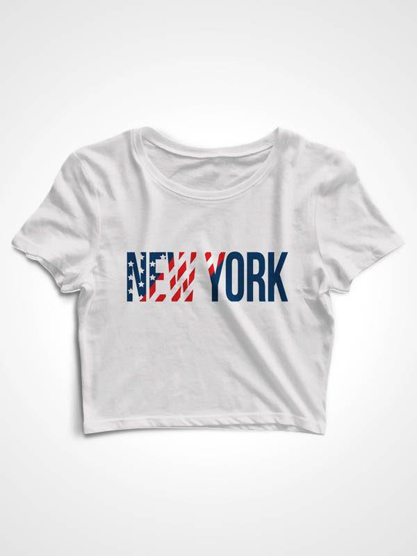 NYC Print – Crop Top