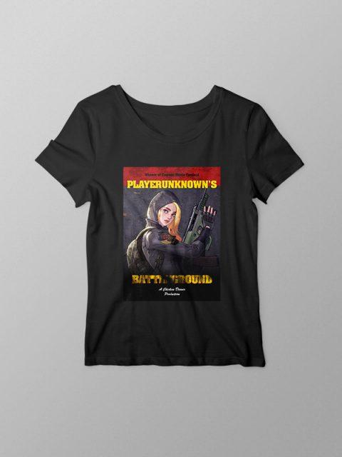 Pubg Vintage movie Style- Women's Tshirt