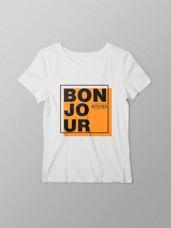 Bonjour- Women Tshirt