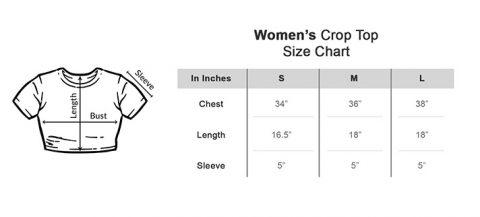 Size chart Crop Top