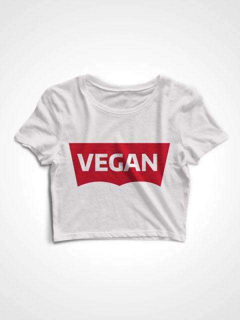 Levi Vegan – White Crop Top