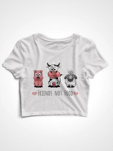 Friends not Food – Crop Top