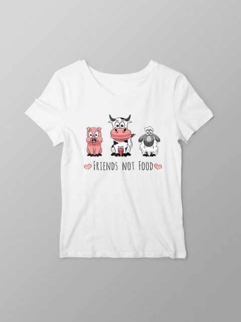 Friends Not Food- Women Tshirt