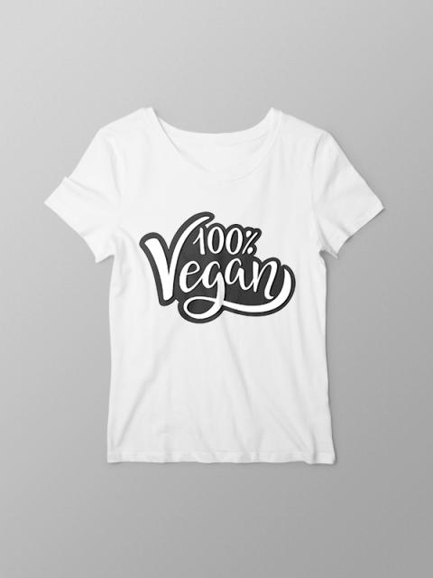 100% Vegan- Women Tshirt