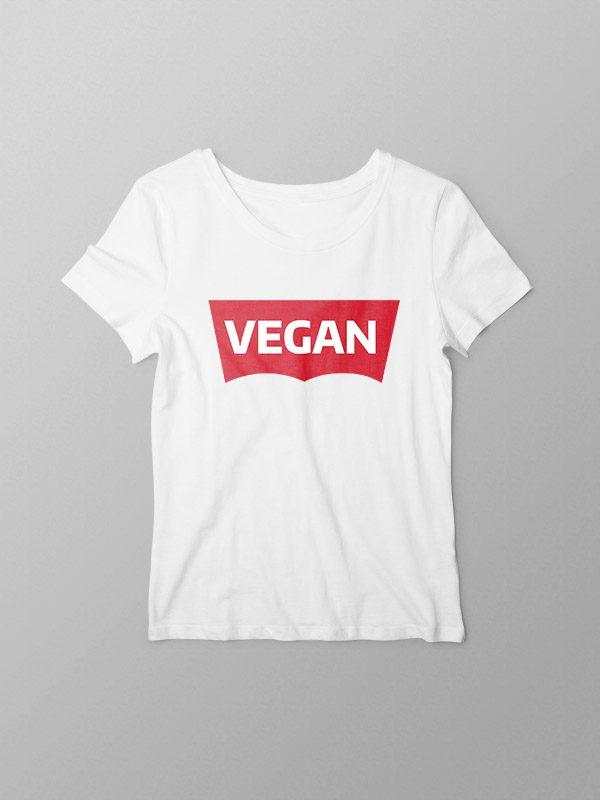 Vegan Levi White – Women Tshirt