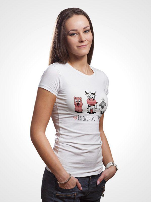 Friends Not Food- Women Tshirt