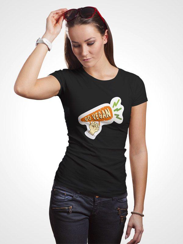Go Vegan Carrot- Women Tshirt