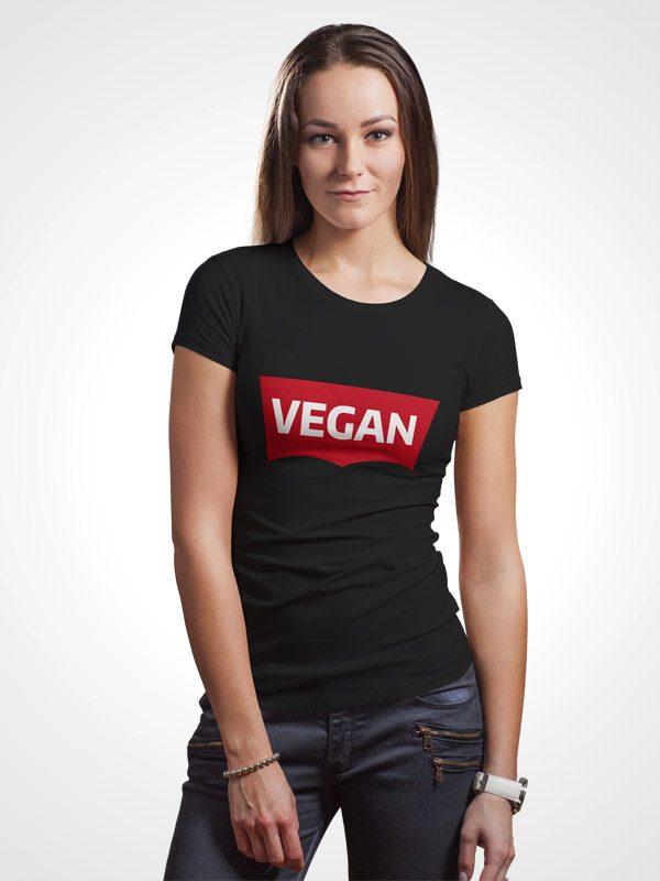 Vegan Levi Black – Women Tshirt