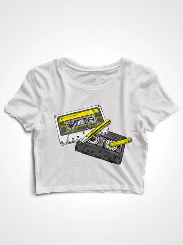 90s Cassettes – Crop Top