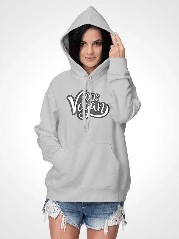 100% Vegan – Unisex Hoodie