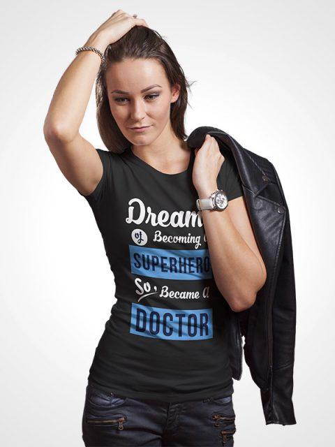 Superhero Doctor Women Tshirt