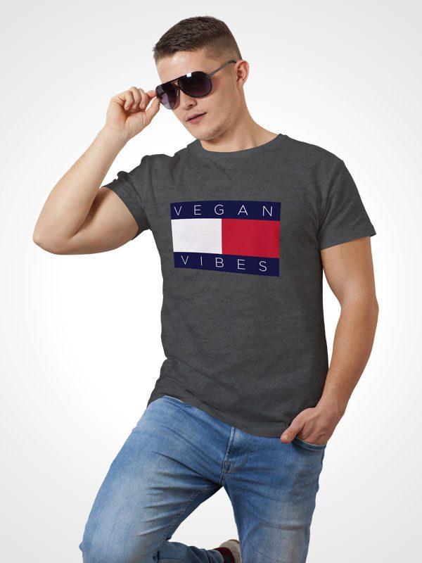 Vegan Hilfiger Grey – Vegan Tshirt