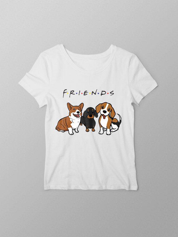 Dog Friends- Women Tshirt