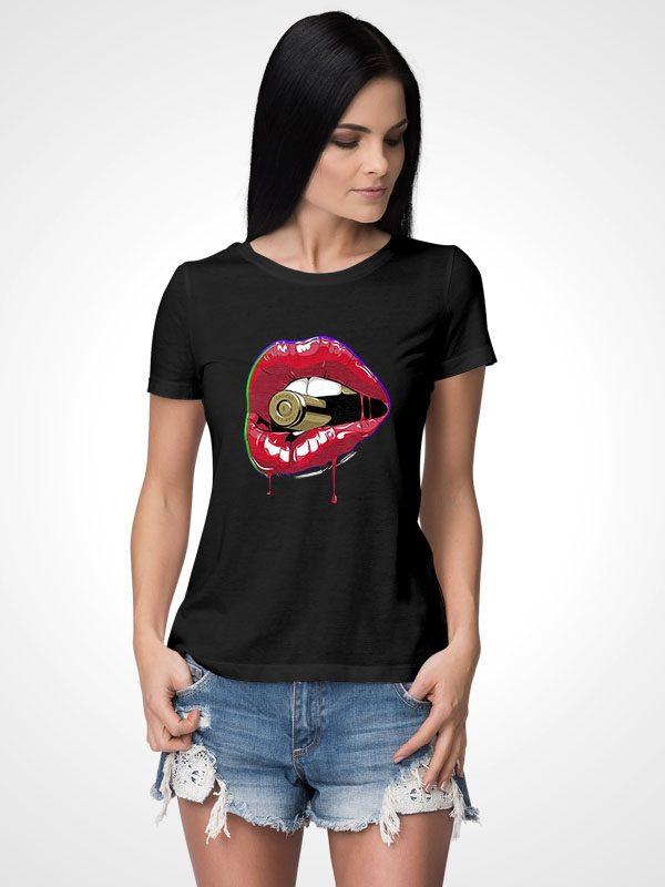 Bullet Lips- Women Tshirt