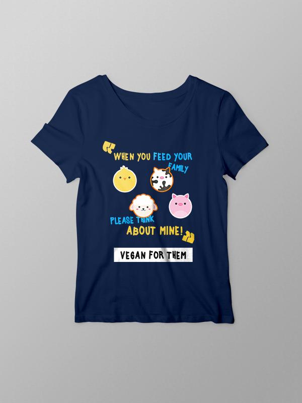 Vegan for them – Women Tshirt