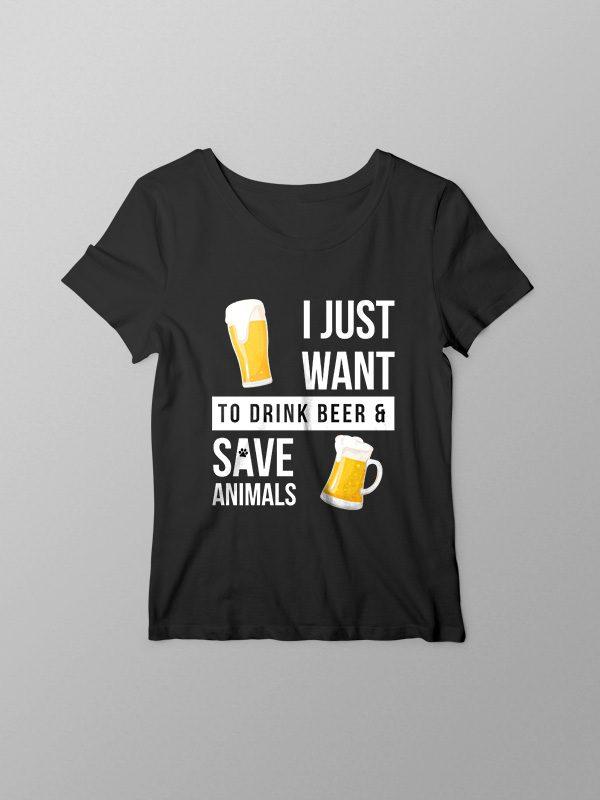 Beer and Animal Liberation – Women Tshirt
