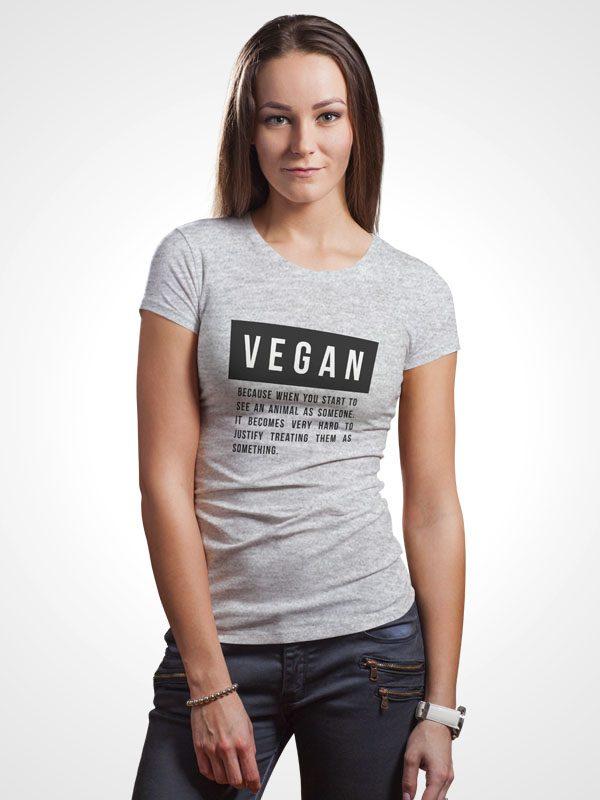 Vegan Quote – Grey Women Tshirt