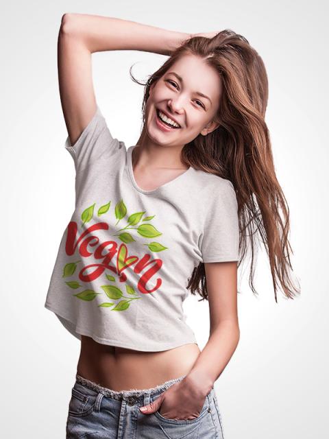Vegan Love – Crop Top