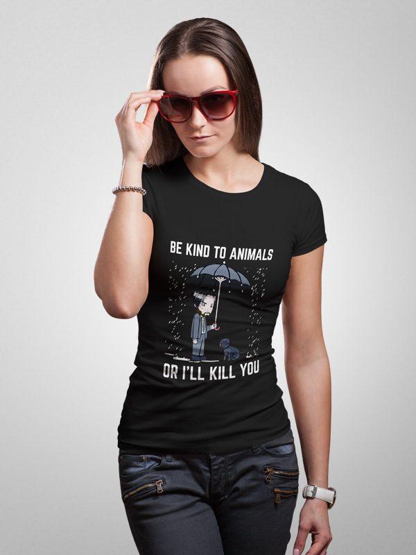 John Wick Love Animals – Women Tshirt