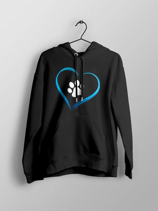 Dog Love – Black Unisex Hoodie