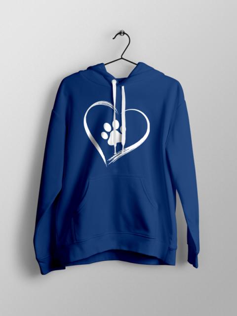 Dog Love – Blue Unisex Hoodie