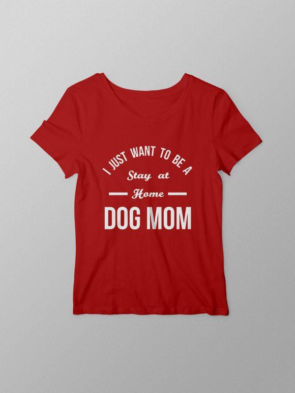 Home Dog Mom – Red Women Tshirt