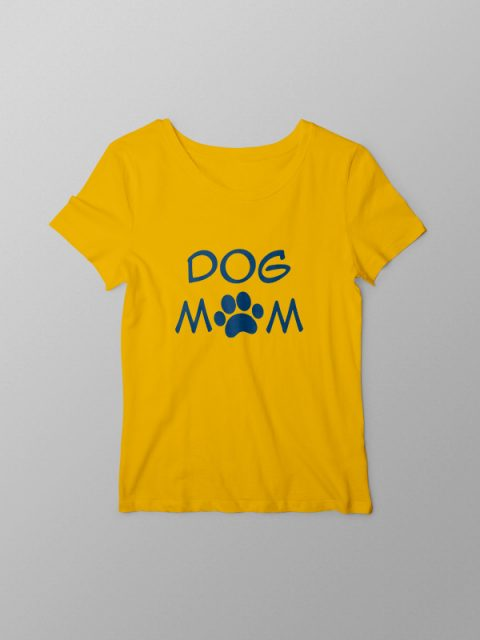 Dog Mom – Yellow Women Tshirt