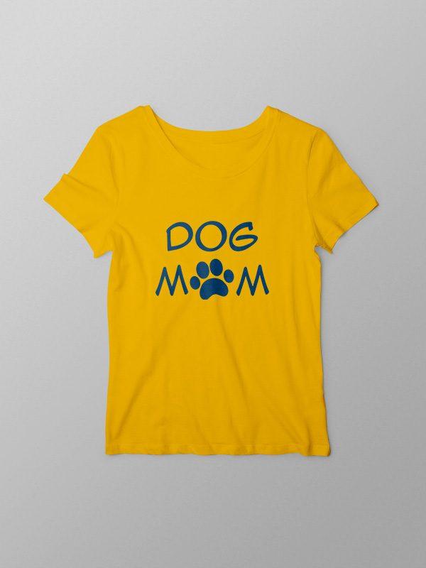 Dog Mom – Yellow Women Tshirt