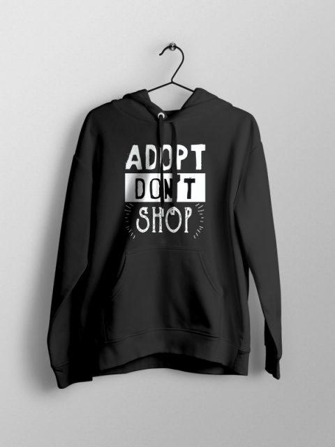 Adopt Don't Shop- Unisex Black Hoodie