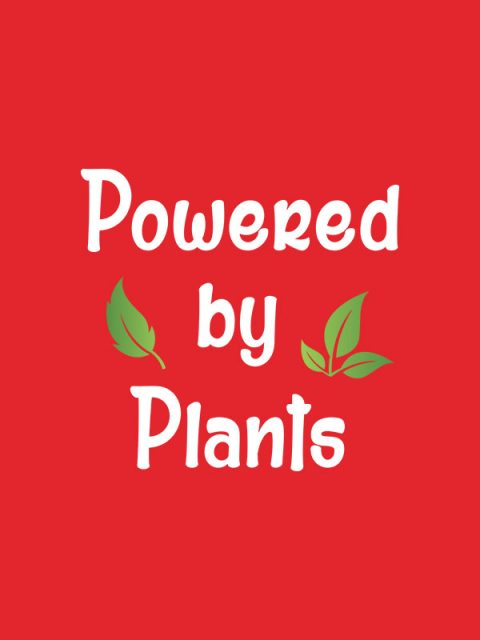 Powered by Plants 2- Red Women Tshirt