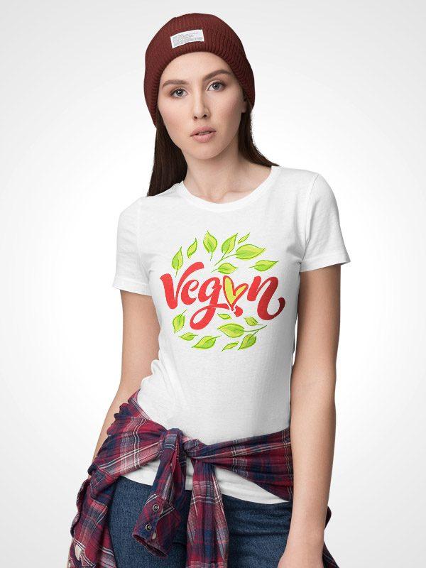 Vegan leaf – Women Tshirt