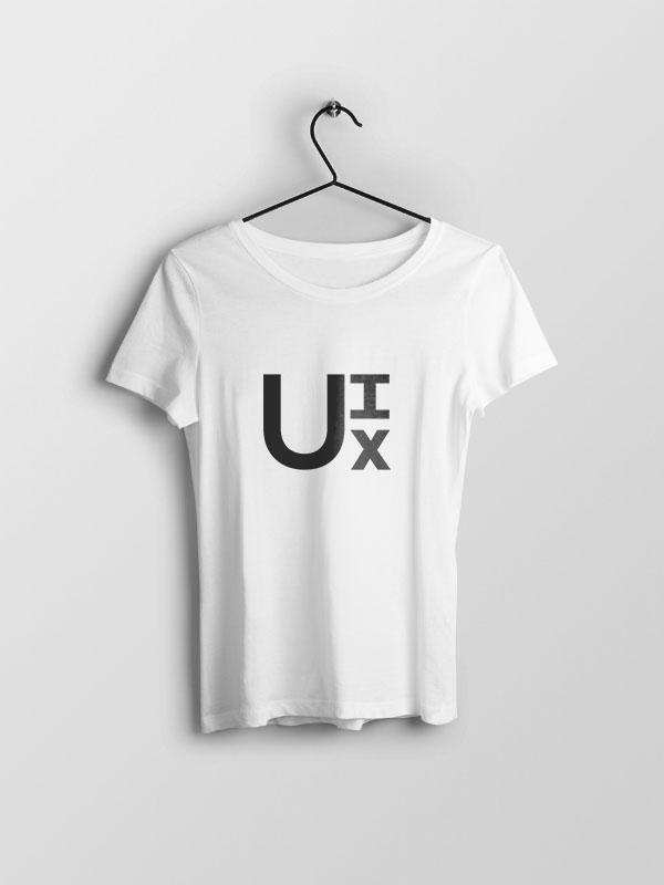 U-I-X – White Women Tshirt
