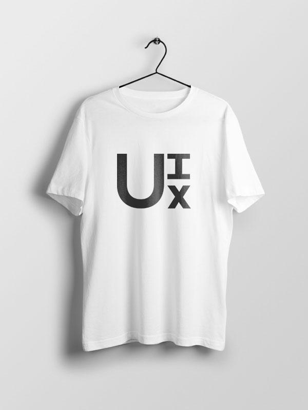 U-I-X – White Unisex Tshirt