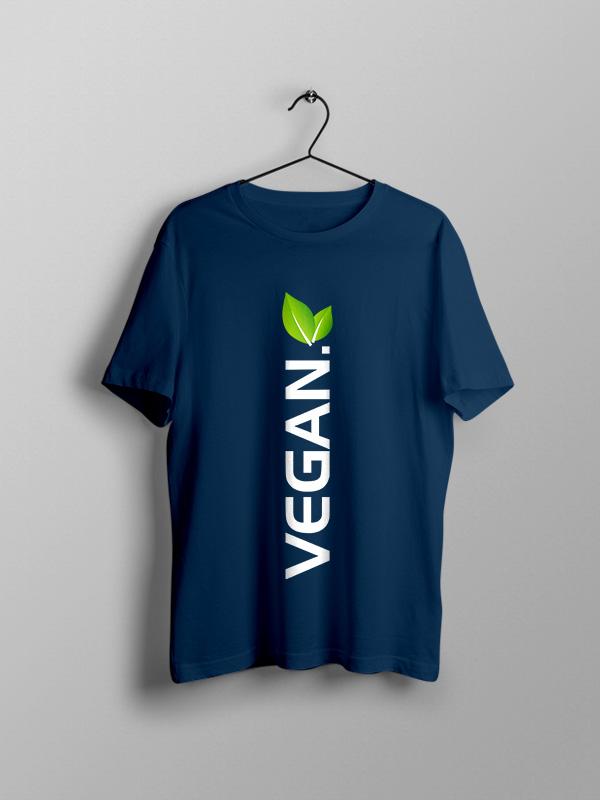 Vegan Vertical with leaf- Vegan Tshirt