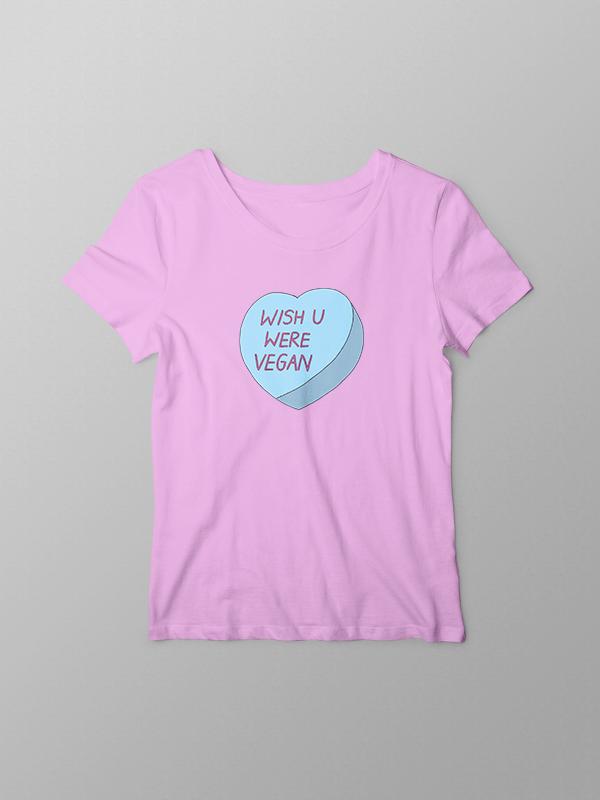Wish you were Vegan – Women Tshirt