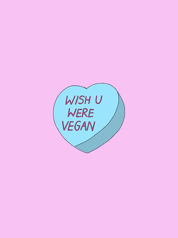 Wish you were Vegan – Vegan Tshirt