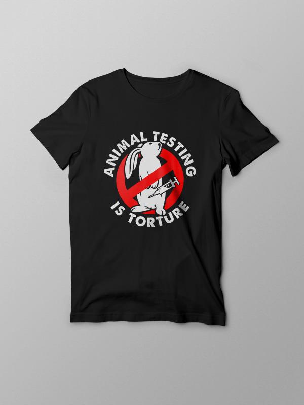 Animal Testing is Torture – Vegan Tshirt