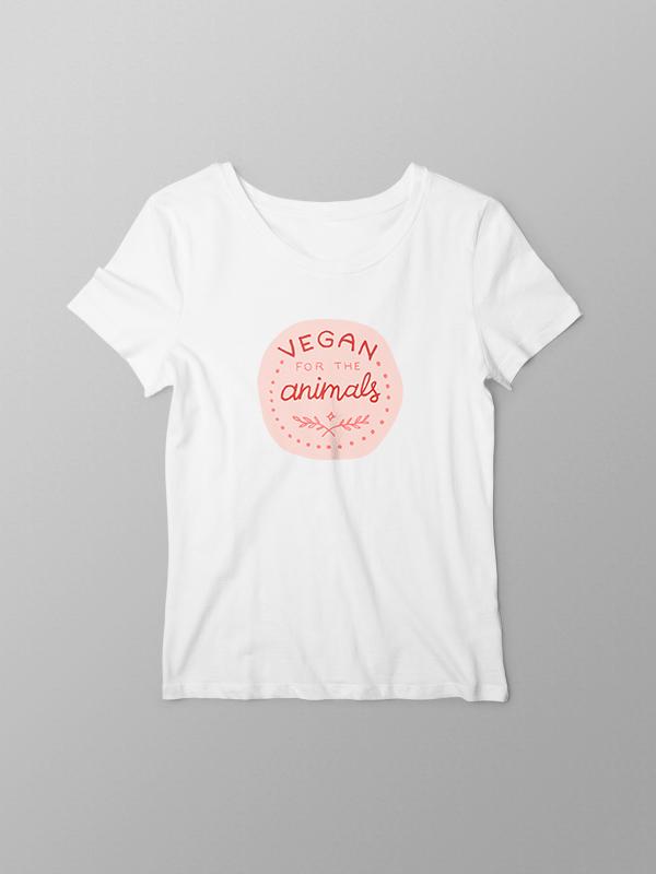 Vegan for Animals – Women Tshirt
