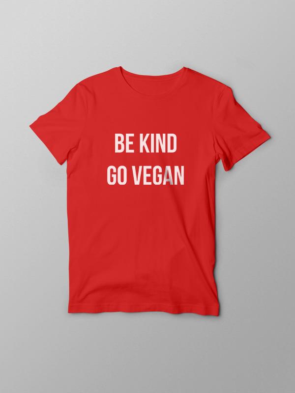 Be Kind Go Vegan – Vegan Tshirt