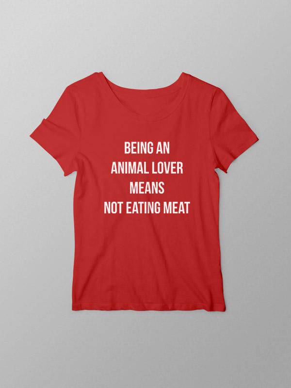 Animal Lover – Red Women Tshirt