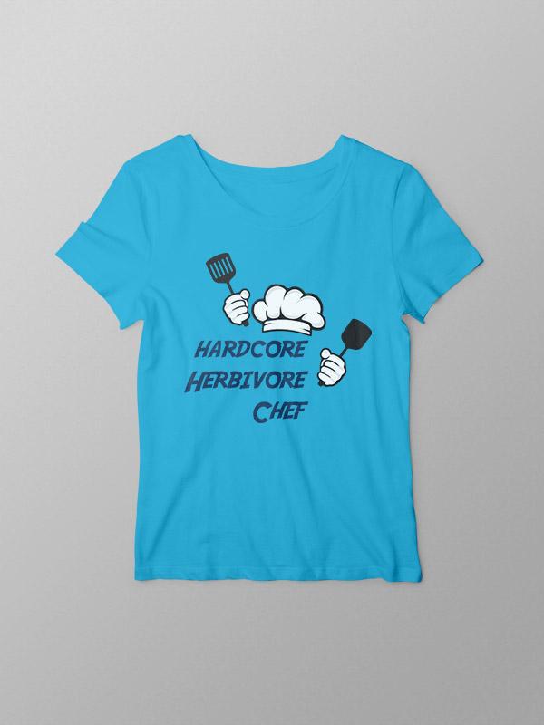 Hardcore Herbivore Chef – Women Tshirt