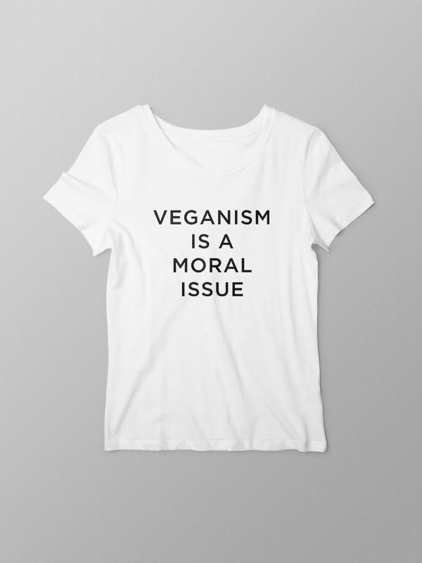 Moral Issue – White Women Tshirt